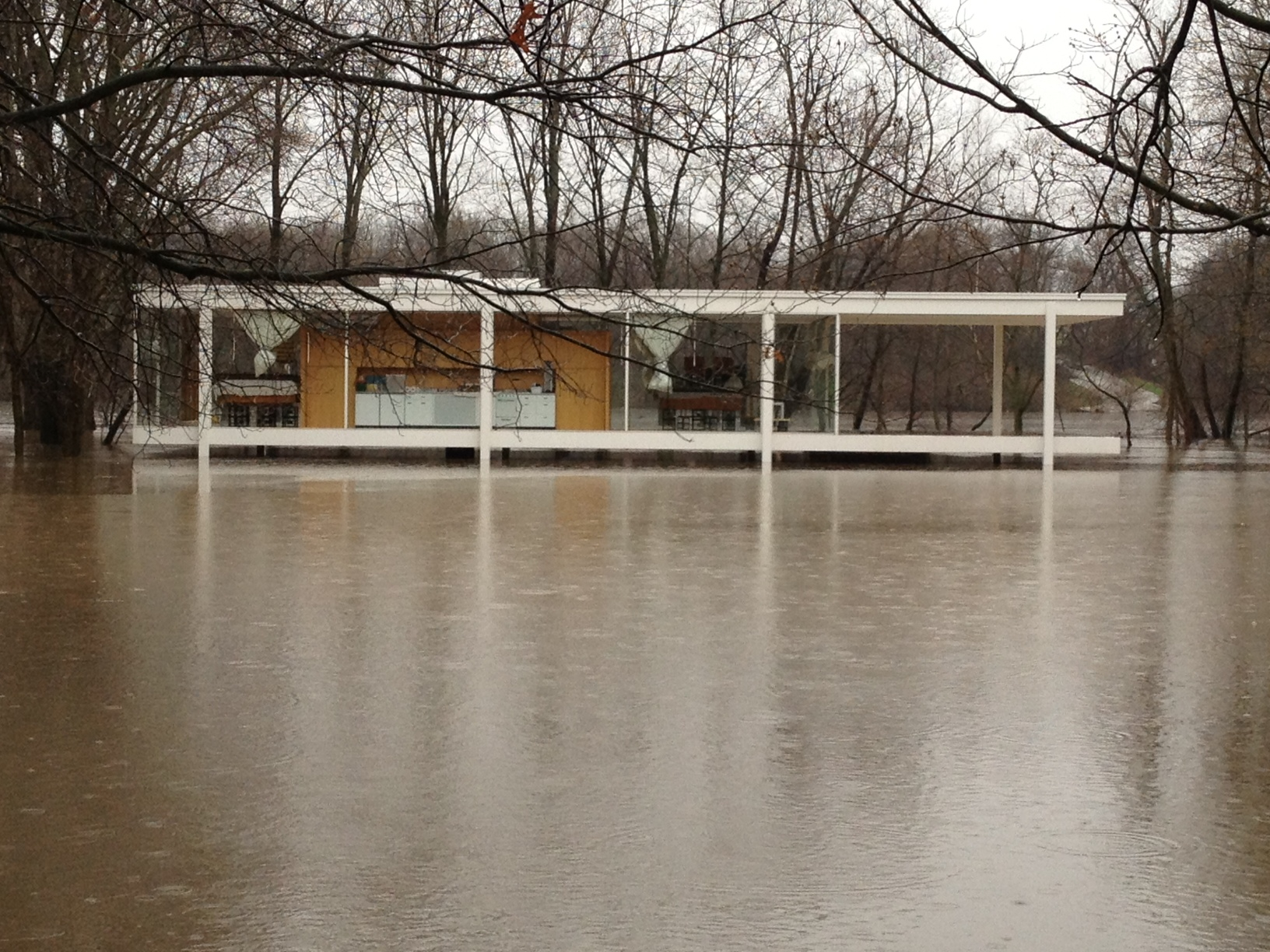 Farnsworth house flooding pictures